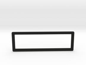 Aircraft Single Radio square bezel  in Black Premium Versatile Plastic