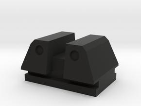 PPQ rear tactical sight type 2 in Black Natural Versatile Plastic