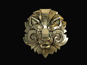 Dota 2 - Medallion of Courage I in Polished Brass