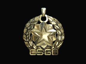 CS:GO - Distinguished Master Guardian Pendant in Polished Brass