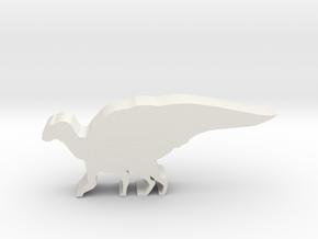 Dinosaur Island Meeple - Hadrosaurus in White Natural Versatile Plastic