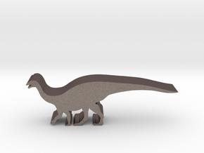 Dinosaur Island Meeples - Mussaurus 1 in Polished Bronzed-Silver Steel