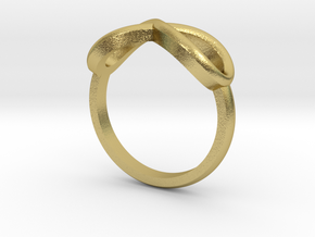 Simple infinity ring  in Natural Brass