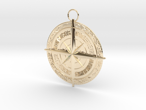 compass V3 in 14k Gold Plated Brass