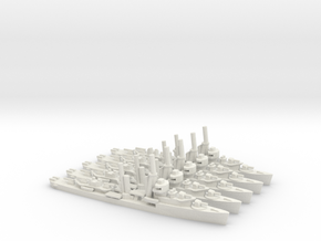 US Mahan-Class Destroyer (x5) in White Natural Versatile Plastic