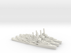 US Mahan-class Destroyer (x3) in White Natural Versatile Plastic