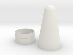 Explorer 1:1 Top Sections in White Natural Versatile Plastic