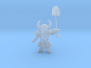 Shovel Knight 1/60 miniature DnD for games and rpg in Smooth Fine Detail Plastic