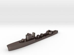 Italian Airone torpedo boat 1:1800 WW2 in Polished Bronzed-Silver Steel