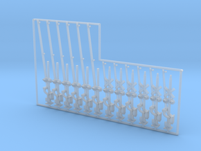 N Scale Crossing Gates 6x1+6x2 Lanes LED in Smooth Fine Detail Plastic