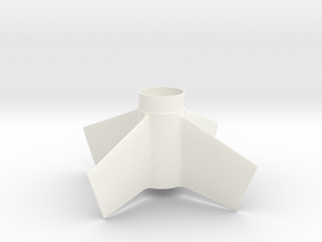 Goblin-style Fin Unit BT55 for 24mm motors in White Processed Versatile Plastic