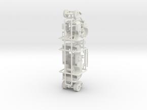 1/87 Crown Engine with High Side Compartment in White Natural Versatile Plastic