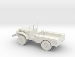 1/72 Scale Dodge WC-51 in White Natural Versatile Plastic