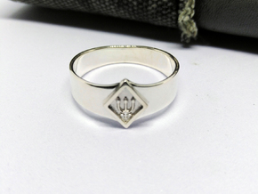 Neptune Ring in Polished Silver: 5 / 49