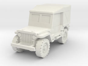 Jeep Willys closed 1/100 in White Natural Versatile Plastic