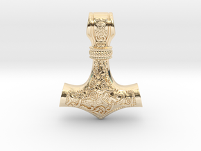 Thor's Hammer in 14k Gold Plated Brass
