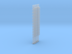 N Scale Cage Ladder 84mm (Platform) in Smooth Fine Detail Plastic