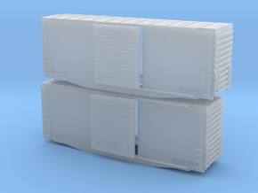 Z Scale high cube 40 x2 in Smoothest Fine Detail Plastic