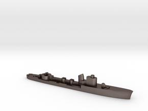 Italian Aretusa torpedo boat 1:2400 WW2 in Polished Bronzed-Silver Steel