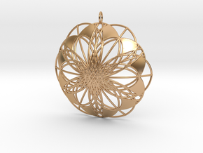 Seed of Life Pendant - from the Flower of Life in Polished Bronze