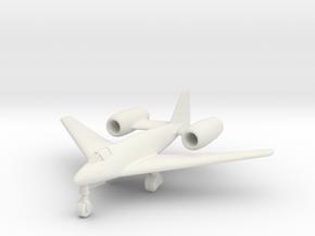 (1:200) Messerschmitt Me 262 Special Lorin Variant in White Natural Versatile Plastic