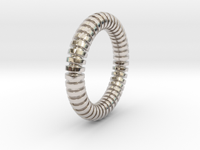 Patrick Circle - Ring in Rhodium Plated Brass: 6 / 51.5