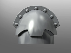 Honoris-pattern shoulder pads in Smooth Fine Detail Plastic: Small