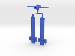 Hydro Copter Blades in Blue Processed Versatile Plastic: Large