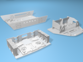 1/537 Refit O Lounge, Rec Deck, and Arboretum Pack in Smooth Fine Detail Plastic