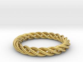 Textilis  in Polished Brass (Interlocking Parts): 5 / 49