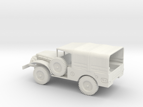 1/72 Scale Dodge WC-51 with Cover in White Natural Versatile Plastic