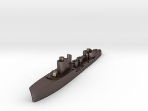 Italian Calipso torpedo boat 1:1800 WW2 in Polished Bronzed-Silver Steel