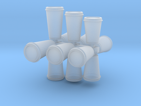 Disposable Coffee Cups/travel mugs for dioramas in Smooth Fine Detail Plastic: 1:24
