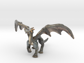 Dragon in Glossy Full Color Sandstone