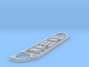 SCX24 Bling kit: Grill door handles and hinges  in Smooth Fine Detail Plastic