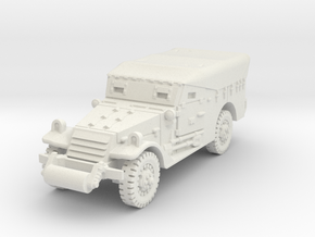 M3A1 Scoutcar early (closed) 1/76 in White Natural Versatile Plastic