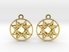 Signet of Melchizedek Earrings v2 in Polished Brass