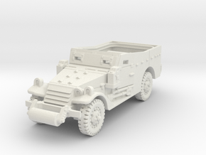 M3A1 Scoutcar late (open) 1/87 in White Natural Versatile Plastic