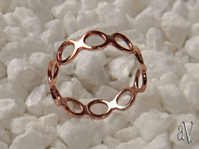 Round Bee Single Ring in 14k Rose Gold Plated: 6 / 51.5