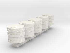 BarrelSet 5ptv1 in White Natural Versatile Plastic