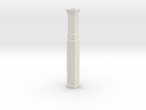 Industrial Factory Chimney OO / HO in White Natural Versatile Plastic