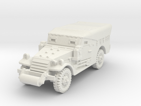 M3A1 Scoutcar late (closed) 1/87 in White Natural Versatile Plastic