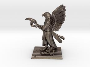 Aarakocra Monk Miniature in Polished Bronzed-Silver Steel