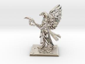 Aarakocra Monk Miniature in Rhodium Plated Brass