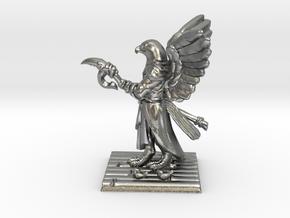 Aarakocra Monk Miniature in Natural Silver
