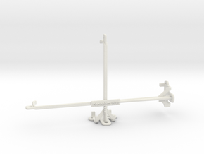Raspberry Pi 7 inch display tripod mount in White Natural Versatile Plastic