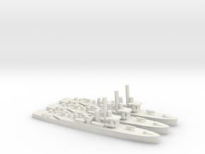 British Shoreham-Class Sloop (x3) in White Natural Versatile Plastic