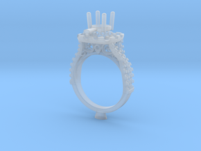 MP1-7815 - Engagement Ring in Smoothest Fine Detail Plastic