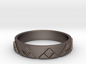 Slim Triforce Ring (Choose your size!) in Polished Bronzed Silver Steel