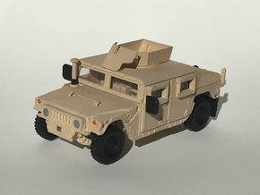 M1151 Humvee Armor W/ Spare Tire Bumper and Turret in Smooth Fine Detail Plastic